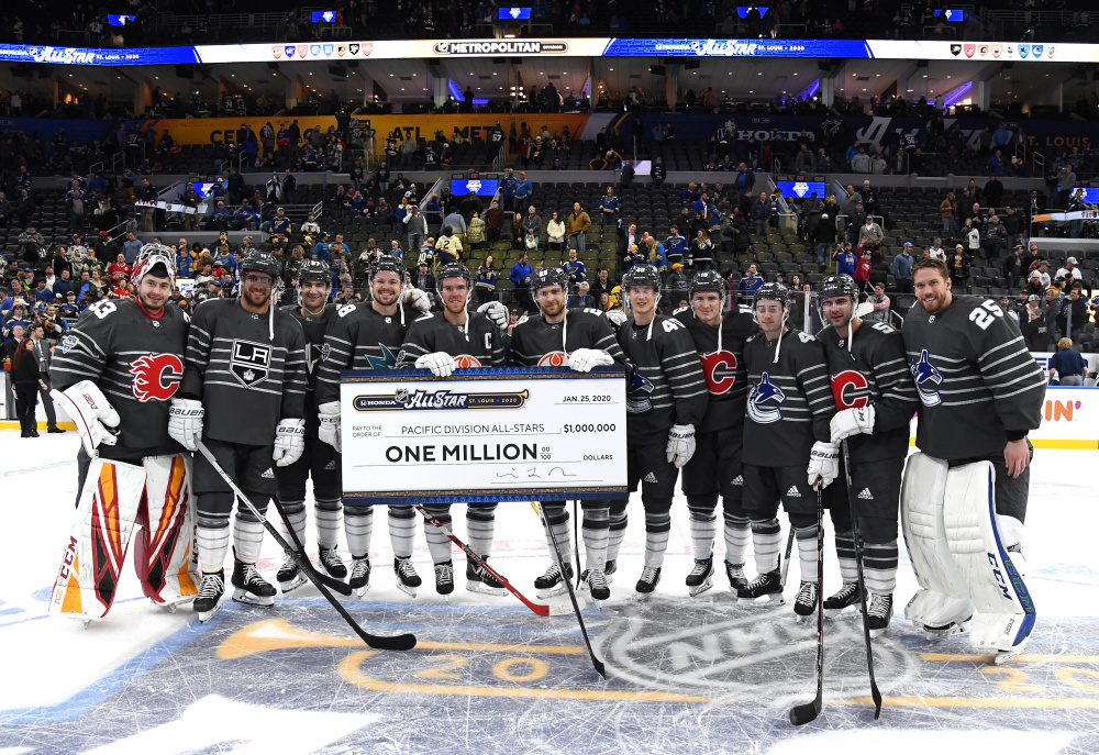 Pacific defeats Atlantic to win 2020 NHL All-Star Game